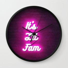 It's Lit Fam Neon Digital 3d art Sign 80s retro style deco Wall Clock