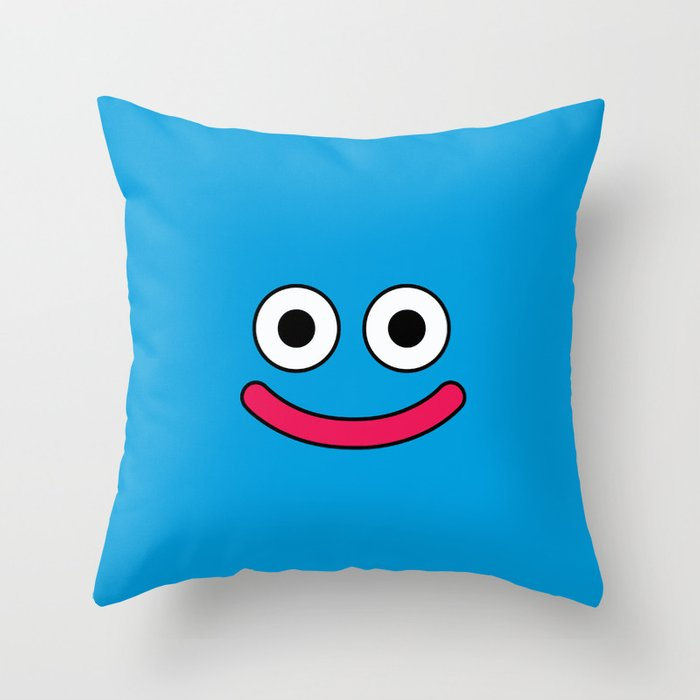 Dragon Quest's Slime Throw Pillow By Mrcrmb