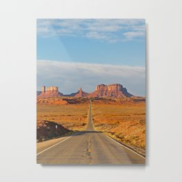Highway to Monument Valley Metal Print