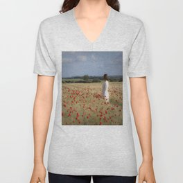 Waiting in the field Unisex V-Neck