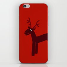 Reindeer-Red iPhone & iPod Skin
