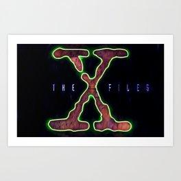 The X Files.(X) Art Print