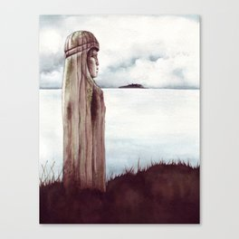 Tunstal Bay Totem Canvas Print