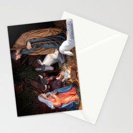 Christmas and Christianity. Nativity scene. Stationery Cards