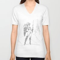 anime V-neck T-shirts featuring Anime 2 by Prince Of Darkness