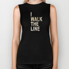 I Walk The Line Biker Tank