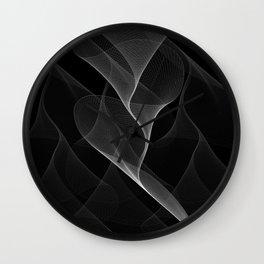 Black and White Flux #minimalist #homedecor #generativeart Wall Clock