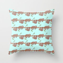 Lazy Baby Sloth Pattern Throw Pillow
