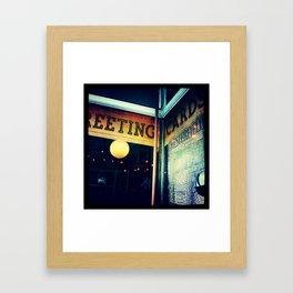 shop window Framed Art Print