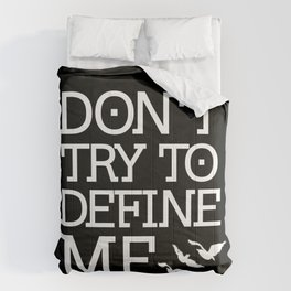 Don't Try to Define Me - Black (Divergent) Comforters