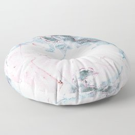 Blue and Pink Marble Floor Pillow