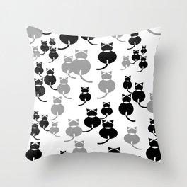 Fat Cats 1 Throw Pillow