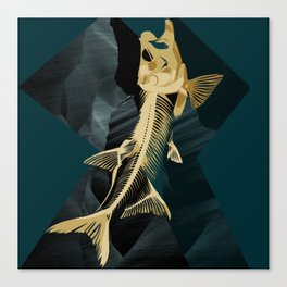 Catch the golden fish Canvas Print
