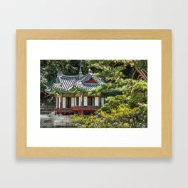 Buyongi Pond, Secret Garden, Changdeokgung Palace, Seoul Framed Art Print