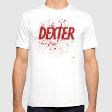 Dexter#01 MEDIUM White Mens Fitted Tee