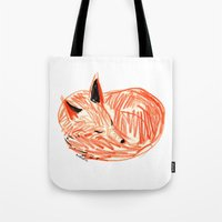 rubyetc Tote Bags featuring fox by rubyetc