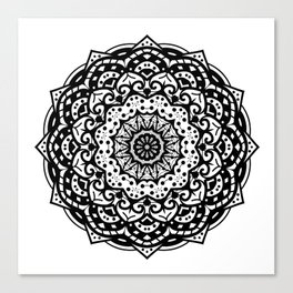 Hand Drawn Mandala Illustration Canvas Print
