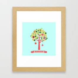Christmas tree illustration Framed Art Print