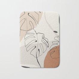 Minimal Abstract Art- Monstera Bath Mat