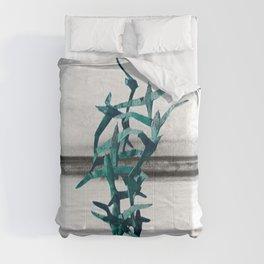 Flying Seagulls. Minimal Abstract Art Comforters