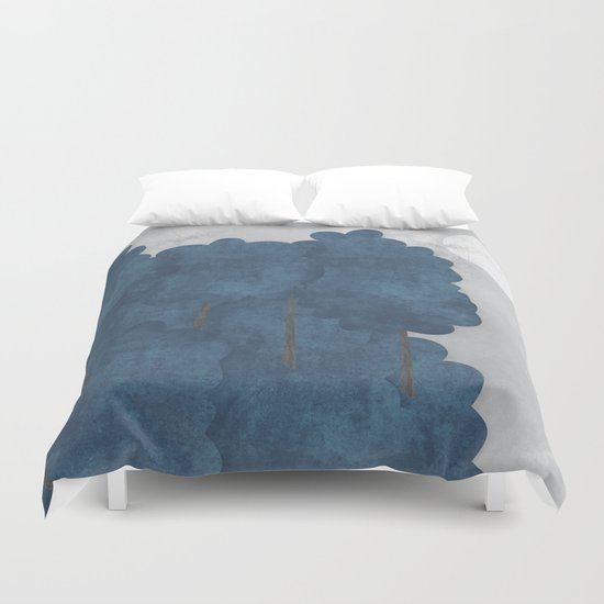 Blue trees Duvet Cover