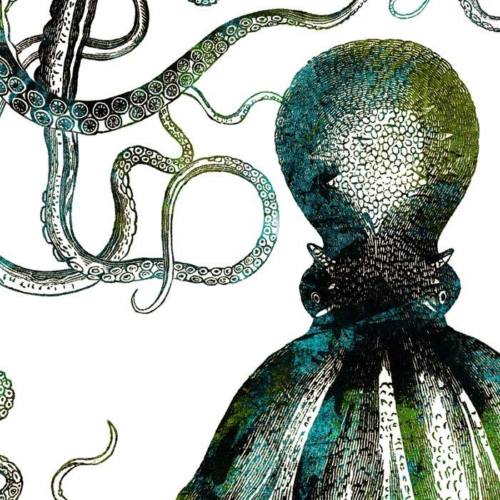 Octopus marine life watercolor art Leggings