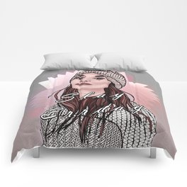Slay Errday Tuff Girl Illustration Comforters