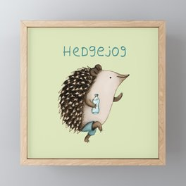Hedgejog Framed Mini Art Print