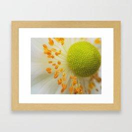 Green and Fluffy Framed Art Print