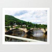 Flower Bridge. Art Print