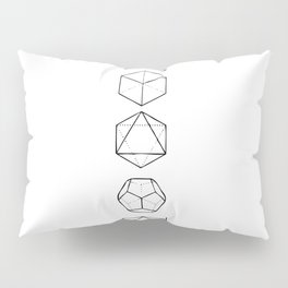 Platonic Solids Geometric Print Pillow Sham