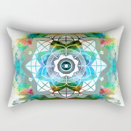 Atmospheric Mandala 0354 Rectangular Pillow