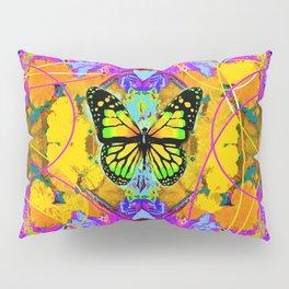 Monarch Butterfly Garden Abstract Pillow Sham