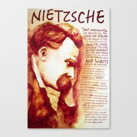 nietzsche Canvas Prints featuring Nietzsche by Chris Hall Art