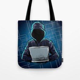 Computer hacker spread a net Tote Bag