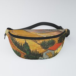 Landscape with House and Ploughman Fanny Pack