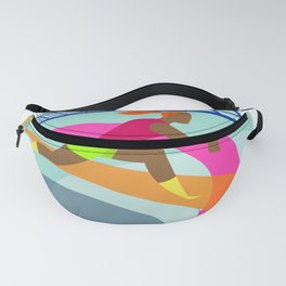 Volleyball Player Passing Ball Icon Fanny Pack