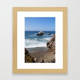 Land's End Beach Framed Art Print