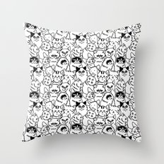 Oh Cats Throw Pillow