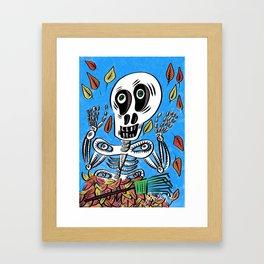 Sherman T. Skully in Autumn Framed Art Print