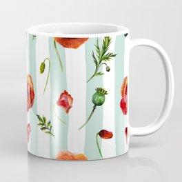Poppy and Stripes Coffee Mug