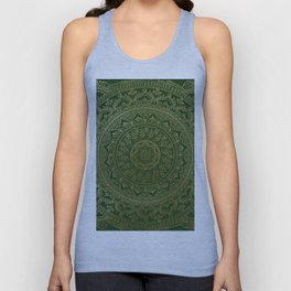 Mandala Royal - Green and Gold Unisex Tank Top