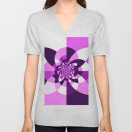 Purple Kaleidoscope Mandala Unisex V-Neck