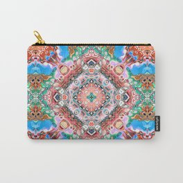 Textured Abstract Tile Pattern Carry-All Pouch