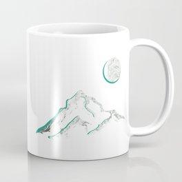 Marble Mountain and Moon Coffee Mug