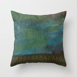 Deep blue green Throw Pillow