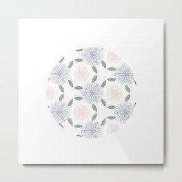 Floral circle Metal Print