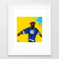 steelers Framed Art Prints featuring STEELERS PAC by Mike Farhat Art Mobb