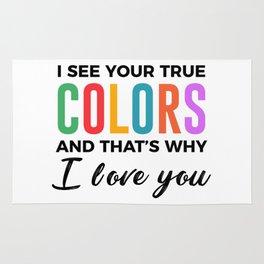 True Colors Unconditional Love Autistic Autism Rug