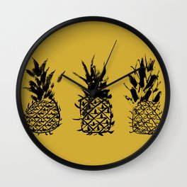 No two pineapples are alike Wall Clock